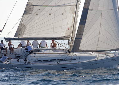 Egeria vitorláshajó in action